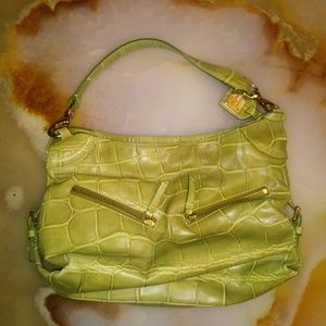 ❤ Dooney & Bourke Green croc bag